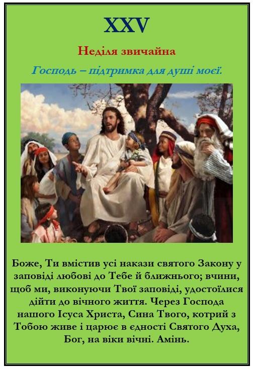 XXV Неділя звичайна